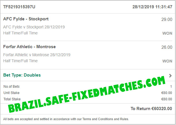 real fixed matches 100% sure