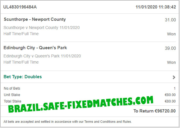 soccer fixed betting