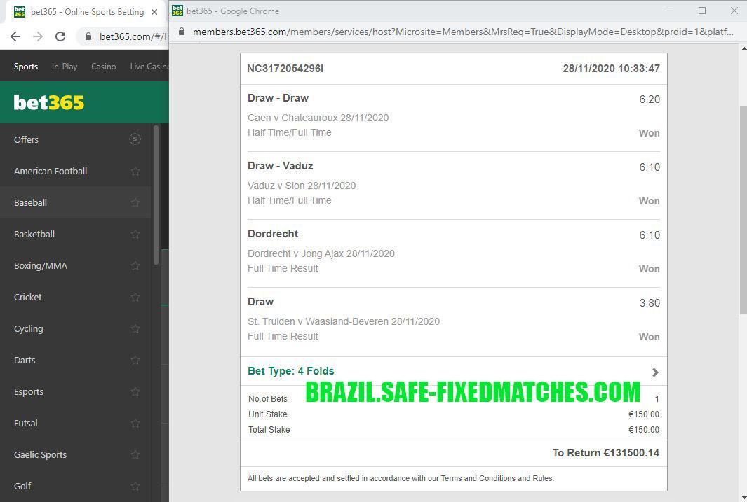 BRAZIL FIXED MATCH 100% STRONG