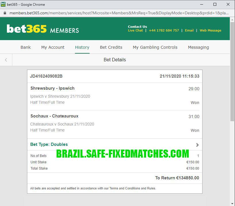 brazil fixed match 100% sure